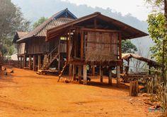 Akha Hill Tribe village in Chaing Rai, Thailand
