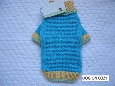 Textured Dog Sweater Hand Knit Pet Sweater Full Length