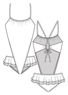 Flat Fashion Sketch - Other 002 - Swimwear