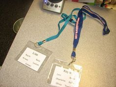 Instead of giving parents a list of students during field trips, give them a lanyard!   Add:  cell phone numbers, school phone numbers, and schedule for the day.
