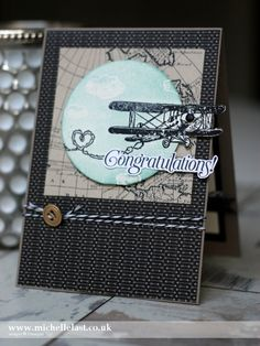 Sky Is The Limit FREE during Sale-a-bration for (Stampin' Up! Demonstrator Michelle Last) Masculine Birthday Cards, Birthday Cards For Men, Masculine Cards, Stampin Up, Hand Stamped Cards, Boy Cards, Travel Cards, Fathers Day Cards, Stamping Up Cards