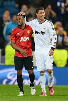 Evra (- Manchester United - England and Cristiano Ronaldo - Real Madrid - Spain.