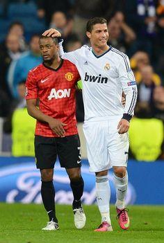 Evra and Ronaldo