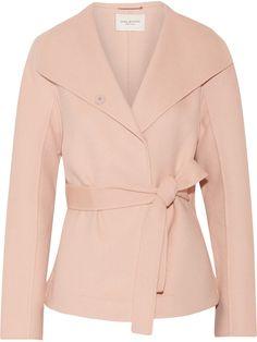 Halston Heritage Asymmetric wool-blend coat