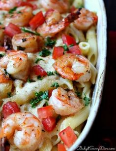 Olive Garden Baked Parmesan Shrimp Recipe is easy to make and a delicious italian style seafood dish (Bake Shrimp Parmesan) Fish Recipes, Seafood Recipes, Dinner Recipes, Cooking Recipes, Healthy Recipes, Shrimp Recipes Crockpot, Copycat Recipes, Chicken Recipes, Gastronomia