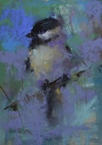 Chickadee by artist Mike Beeman. #pastelart found on the FASO Daily Art Show - http://dailyartshow.faso.com