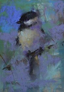 Chickadee by artist Mike Beeman. #pastelart found on the FASO Daily Art Show - http://dailyartshow.faso.com