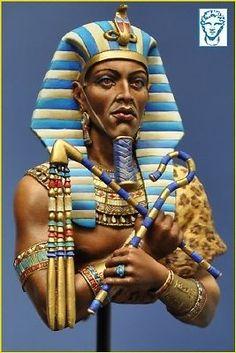 Akhenaten Egyptian Pharoah Bust