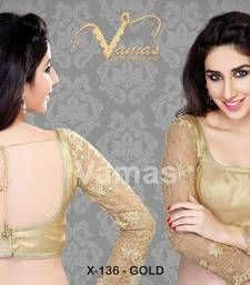 A gorgeous full sleeve net embroidered blouse made of intricately woven net fabric will make you stand out from others. Material : Net Available in size : 32, 34, 36, 38, 40, 42 , 44, 46, 48, 50 inches