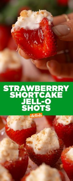 Strawberry Shortcake Jell-O ShotsDelish