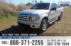 2012 Ford F150 XLT - Extended Cab - V8 5.0L Flex Fuel Engine - 4x4 - Keypad Door Lock - Remote Keyless Entry - Alloy Wheels - Tinted Windows - Fog Lights - Running Boards - Hitch Receiver - Tow Hooks and Ball - Safety Airbags - Seats 6 - Power Windows, Locks & Mirrors - AM/FM/CD/MP3 - SIRIUS Satellite Ready - iPod/Aux/USB/Bluetooth - SYNC by Microsoft - Digital Compass - Outside Temperature Display - Backup Sensors - Cruise Control and more!