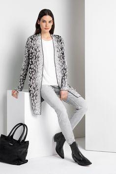 #Expresso lang gemêleerd vest #panterprint #luipaardprint #leopardprint #fall16 #winter17 #fashion #trends
