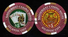 #AtlanticCityCasinoChip of the Day is a $5 Showboat House of Bluse Poker Room chip you can get here http://www.all-chips.com/ChipDetail.php?ChipID=4388 #CasinoChip #HouseOfBlues