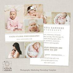 Promo-Karte - Fotografie Marketing Vorlage Flyer Postkarte Vorlage Board 007…