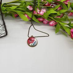 Resin Jewelry, Silver Jewelry, Vintage Jewelry, Unique Jewelry, Resin Pendant, Pendant Set, Pendant Necklace, Vintage Flowers, Vintage Floral