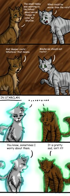 The sadness of the Clan cats by GingerFlight.deviantart.com on @deviantART  Oh wow...this is so funny!
