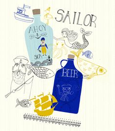 Love the nautical theme! Kind of reminds me of Long John Silver's, actually…