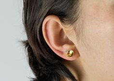 Herschel's Eye earring: 18ct Gold Vermeil and Diamond Cut White Sapphire