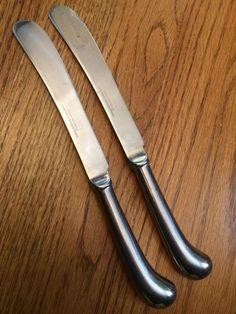 Reed Barton Rebacraft Stainless Olde Lexington 2 Hollow Pistol Dinner Knives | eBay