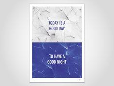 GOOD DAY — moderne Poster, abstrakte Kunstdrucke, zeitgemäß, Art Prints,  minimalistisch, blau, Tusche, Unterwasser, Wasserfarbe, Aquarell von banum auf Etsy