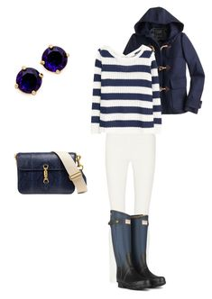 """""""Sin título #168"""" by adelprado ❤ liked on Polyvore featuring The Row, Hunter, J.Crew, MANGO and Kate Spade"""