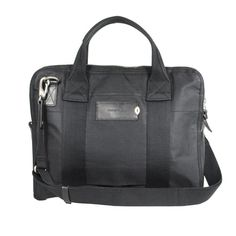 "charlie work bag (black) nice business bag out of waxed cotton canvas (laptopcase for 13"" laptops)"