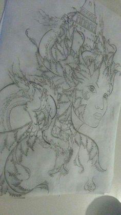 AşkımıAmigdalaya gömdumDragon nöbetçiler diktim :))) #eskiz#desen#karalama#galatakulesi#love#minyatur#ben#my work#illustrations♥♥♥♥♥