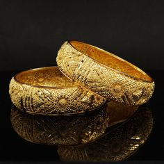 Gold plated Kada #Bracelets Bangle Set.