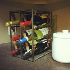 Metal welded wine rack, what could be better to age my wine to perfection?
