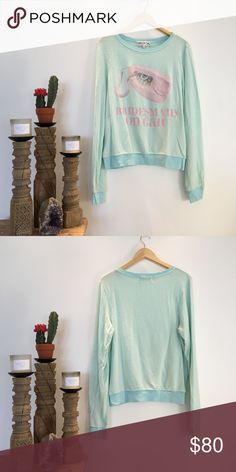 """NWOT WILDFOX """"Bridesmaid On Call"""" Sweater NWOT and never been worn! Wildfox """"Bridemaid on Call"""" sweater. Super soft! Wildfox Couture Sweaters Crew & Scoop Necks"""
