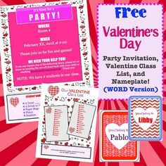 Valentine S Party Letter To Parents Template on for party, box project, ice cream party classroom, free printable,