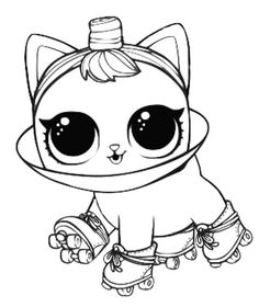 Free Printable LOL Pets Coloring Pages Kitty Kitty Abi