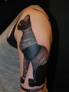 Beautiful Egyptian Bastet Tattoo On Left Half Sleeve : Egyptian Tattoos Bast Tattoo, Goddess Tattoo, Sphinx Tattoo, Anubis Tattoo, Egyptian Cat Tattoos, Egyptian Cats, Egyptian Symbols, Tatuajes Tattoos, Tattoo Ideas