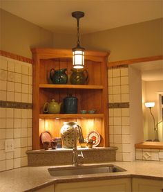Medium image of marvelous corner kitchen sink  shelves above  i like the idea but would want