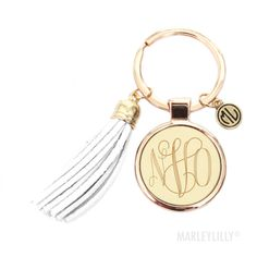 Monogrammed Tassel Key Chain | Marleylilly