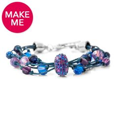 Make Me! Moody Blues Bracelet | Fusion Beads Inspiration Gallery