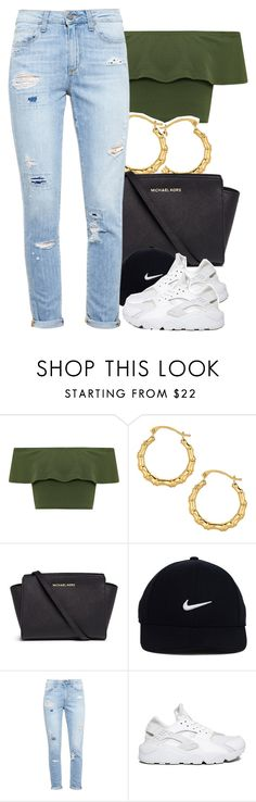"""""""Sans titre #355"""" by lesliekabengele ❤ liked on Polyvore featuring WearAll, Michael Kors, NIKE and Paige Denim"""