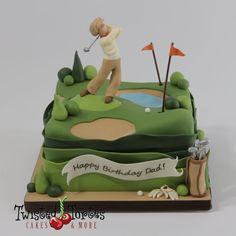 Golfer birthday cake by Twisted Tortes Golfer Geburtstagstorte von Twisted Tortes Birthday Cakes For Men, 60th Birthday Cakes, Bithday Cake, Birthday Gifts, Birthday Sayings, Men Birthday, Husband Birthday, Birthday Images, Birthday Greetings