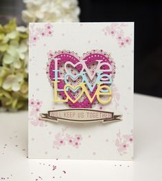 Love Will Keep Us Together Card by Ashley Cannon Newell for Papertrey Ink (December 2013)