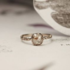 quite possibly the prettiest ring i've ever seen.    Opaque Diamond Ring, Rust Jewelry, £695.00