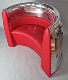 Red Chair from Jet Cowling Fan