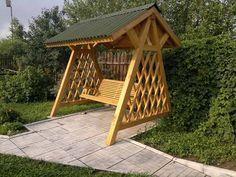 Садовые качели - лавка из дерева - Вариант №2