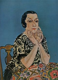 'Portrait de Mme Dufy' (1930) by French artist Raoul Dufy (1877-1953) Oil on canvas, 100 x 81 cm. collection: Musée Masséna, Nice