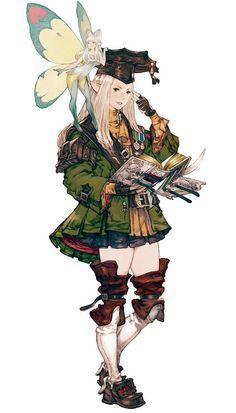 Elezen Scholar from Final Fantasy XIV: A Realm Reborn: