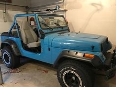 This Jeep was my husbands in high school.  We got it from his parents and restored it (new paint, new tires, new/rebuilt engine, transmission, interior,