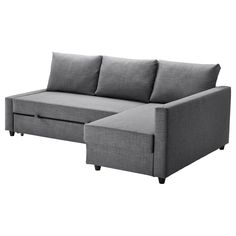 FRIHETEN Hörnbäddsoffa - Skiftebo mörkgrå, - IKEA