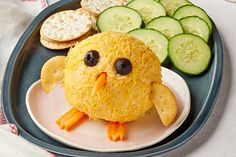Kraft Recipes Magazine (Spring Baby Chick Bacon Cheese Ball - Start your next party out right with our Baby Chick Bacon Cheese Ball recipe. This adorable Baby Chick Bacon Cheese Ball will be the hit of the event. Kraft Foods, Kraft Recipes, Easter Appetizers, Recipes Appetizers And Snacks, Cheese Appetizers, Easter Desserts, Easter Snacks, Easter Food, Hoppy Easter