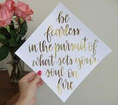 Custom Graduation Cap Calligraphy Decal  Many Color Options