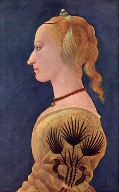 BALDOVINETTI, Alessio. Portrait of a Lady in Yellow. c. 1465. National Gallery, London