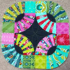 Mommy by day Crafter by night: Mini Quilt | Kaffe Fassett Pickle Dish